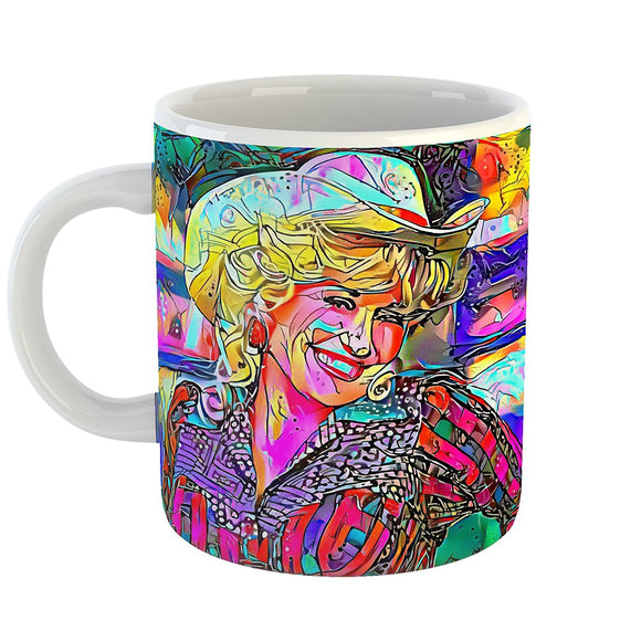 Westlake Art - Dolly Parton Singer Pop Art Coffee Mug 11 oz - Modern Abstract Artwork for Home Office Decoration