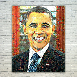 Westlake Art - Barack Obama President 11x17in Modern Poster Prints Artwork Abstract Paintings Pictures Printed Wall Art for Home Office Decorations