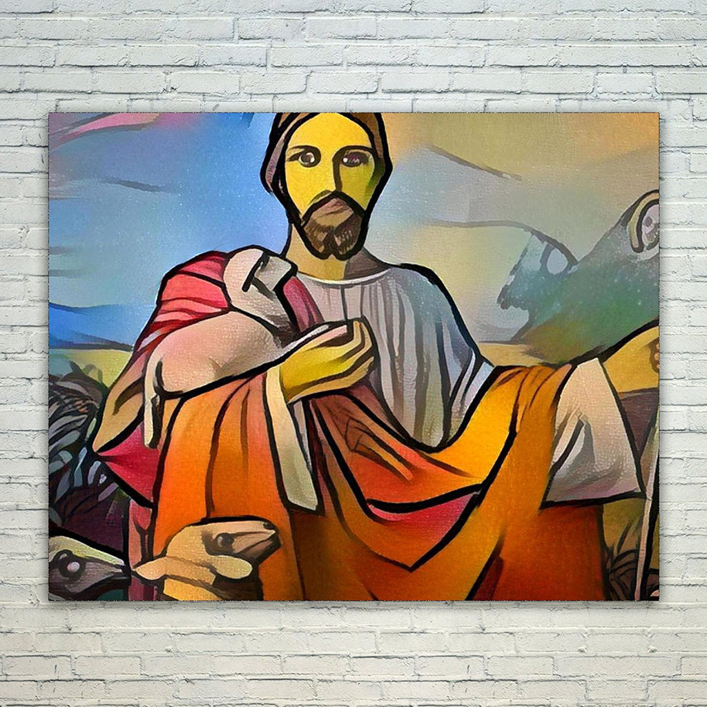 Westlake Art - Jesus Christ Lord Savior Son of God 11x17in Modern Poster Prints Artwork Abstract Paintings Pictures Printed Wall Art for Home Office Decorations