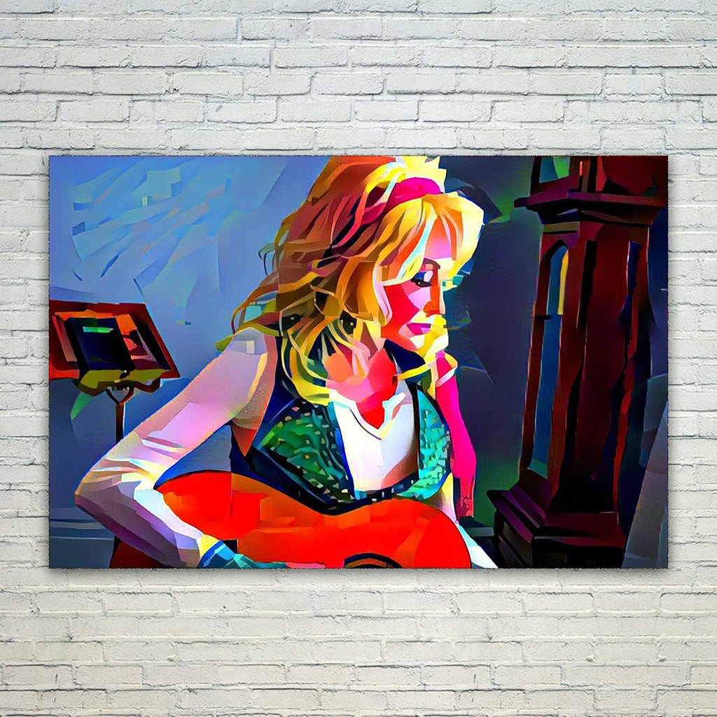 Westlake Art - Dolly Parton Singer Pop Art 11x17in Modern Poster Prints Artwork Abstract Paintings Pictures Printed Wall Art for Home Office Decorations