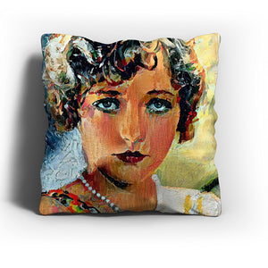 Westlake Art - Marion Davies Actress Throw Pillow Cover 16 inch - Modern Abstract Artwork for Home Office Decoration