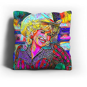 Westlake Art - Dolly Parton Singer Pop Art Throw Pillow Cover 16 inch - Modern Abstract Artwork for Home Office Decoration