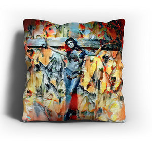 Westlake Art - Raquel Welch Actress Throw Pillow Cover 16 inch - Modern Abstract Artwork for Home Office Decoration