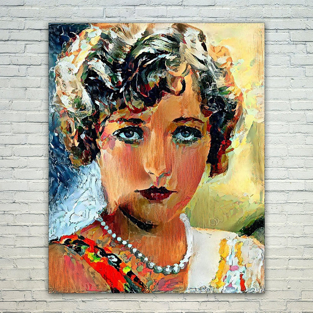 Westlake Art - Marion Davies Actress 11x17in Modern Poster Prints Artwork Abstract Paintings Pictures Printed Wall Art for Home Office Decorations