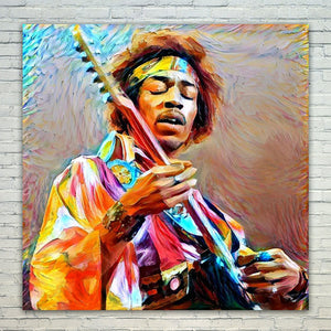 Westlake Art - Jimi Hendrix Guitarist 11x17in Modern Poster Prints Artwork Abstract Paintings Pictures Printed Wall Art for Home Office Decorations