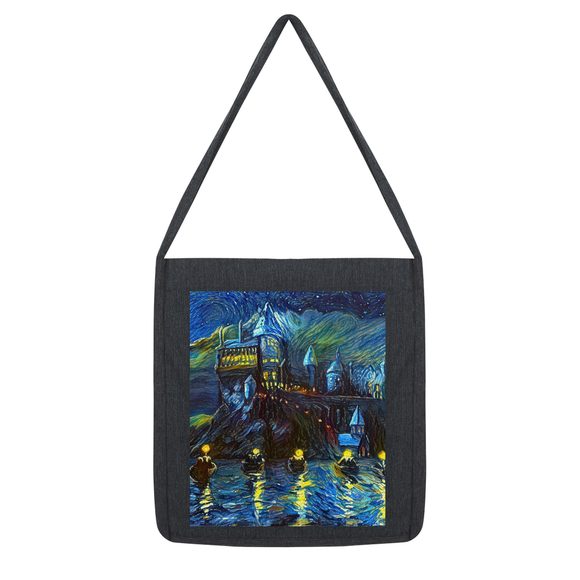 hp-castle-night-1 Tote Bag