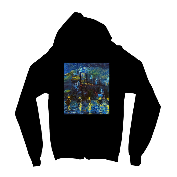 hp-castle-night-1 Kids Zip Hoodie