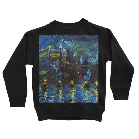 hp-castle-night-1 Kids Sweatshirt