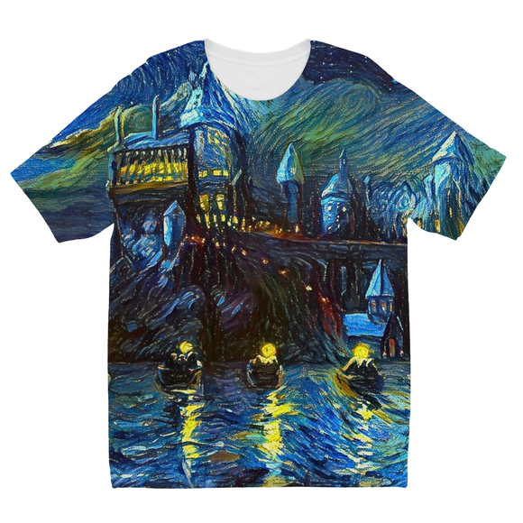 hp-castle-night-1 Kids Sublimation TShirt