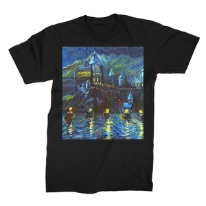 hp-castle-night-1 Unisex Fine Jersey T-Shirt