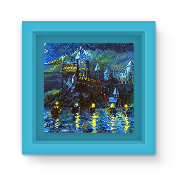 hp-castle-night-1 Magnet Frame