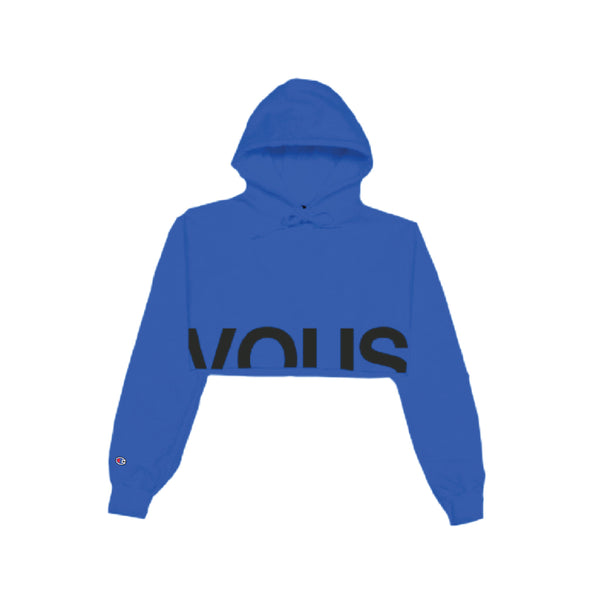 Vous Royal Cropped Hoodie