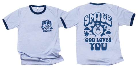God Loves You Ringer Tee