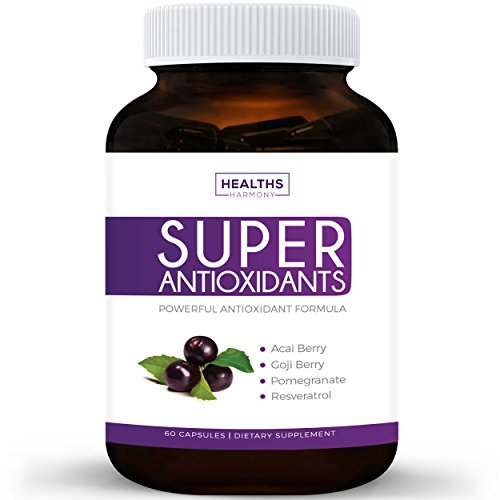 Super Antioxidant Supplement | Powerful Super Food Antioxidants Blend | Acai Berry, Goji Berry, Pomegranate & Trans Resveratrol