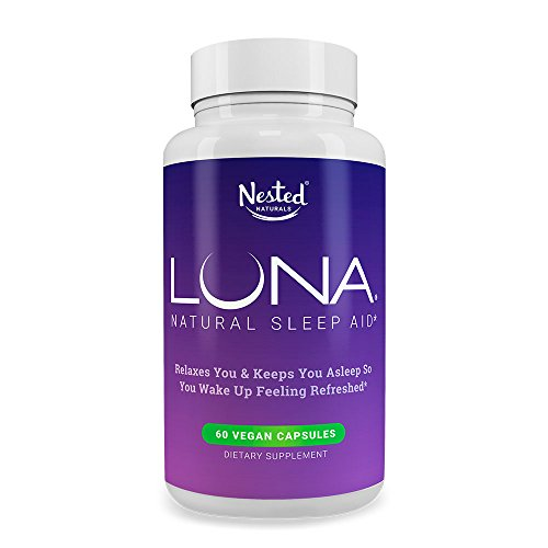 LUNA Naturally Sourced Ingredients | 60 Non-Habit Forming Vegan Capsules | Herbal Supplement with Melatonin, Valerian Root, Chamomile, Magnesium | Sleeping Pills for Adults