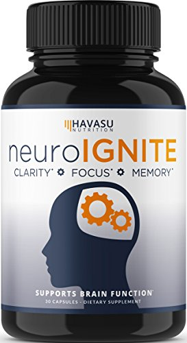 Havasu Nutrition Extra Strength Brain Supplement for Focus, Energy, Memory & Clarity - Mental Performance Nootropic With Super Ginkgo Biloba