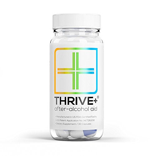 "After-Alcohol Aid by Thrive+ | As Seen on Shark Tank - A Vitamin"" for Healthier & Happier Alcohol Consumption (30 Capsules)"