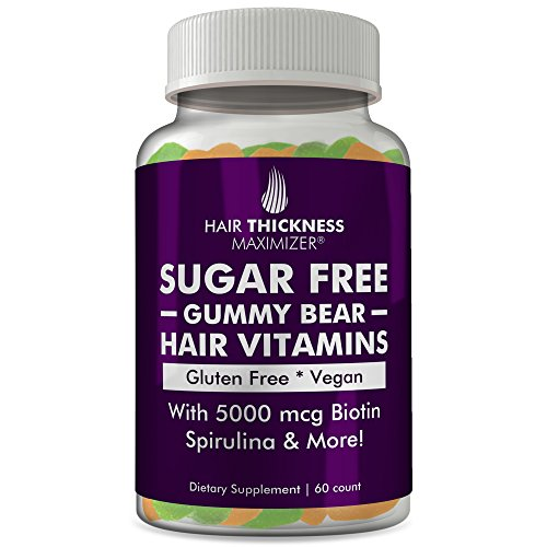 Sugar Free Hair Gummy Bear Vitamins by Hair Thickness Maximizer