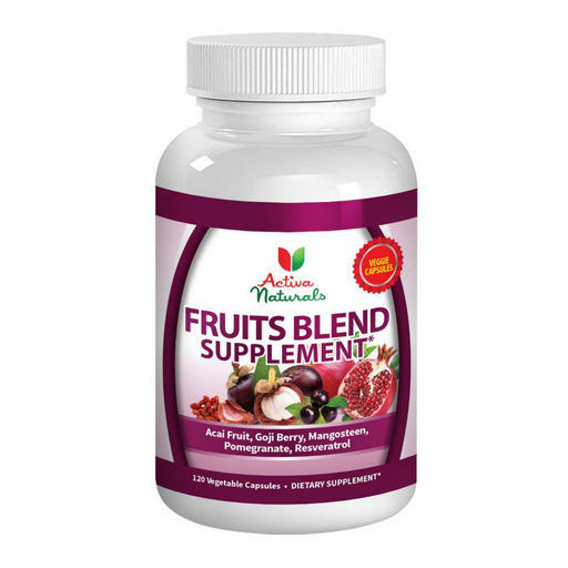Activa Naturals Fruits Blend Supplement with Acai, Pomegranate, Mangosteen, Goji, Noni & Berries Herbs - 120 Veg. Caps