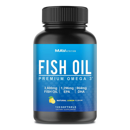 Premium Fish Oil Omega 3 - Max Potency