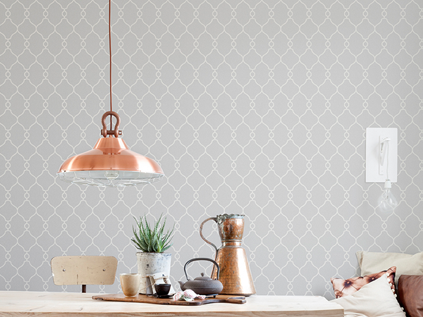 2015 Wallpaper Trends: Geometric Trellis Wallpaper to Help You Design a Classy Home