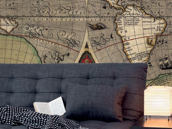 Travel from home with Vintage World Map Wallpaper Murals!