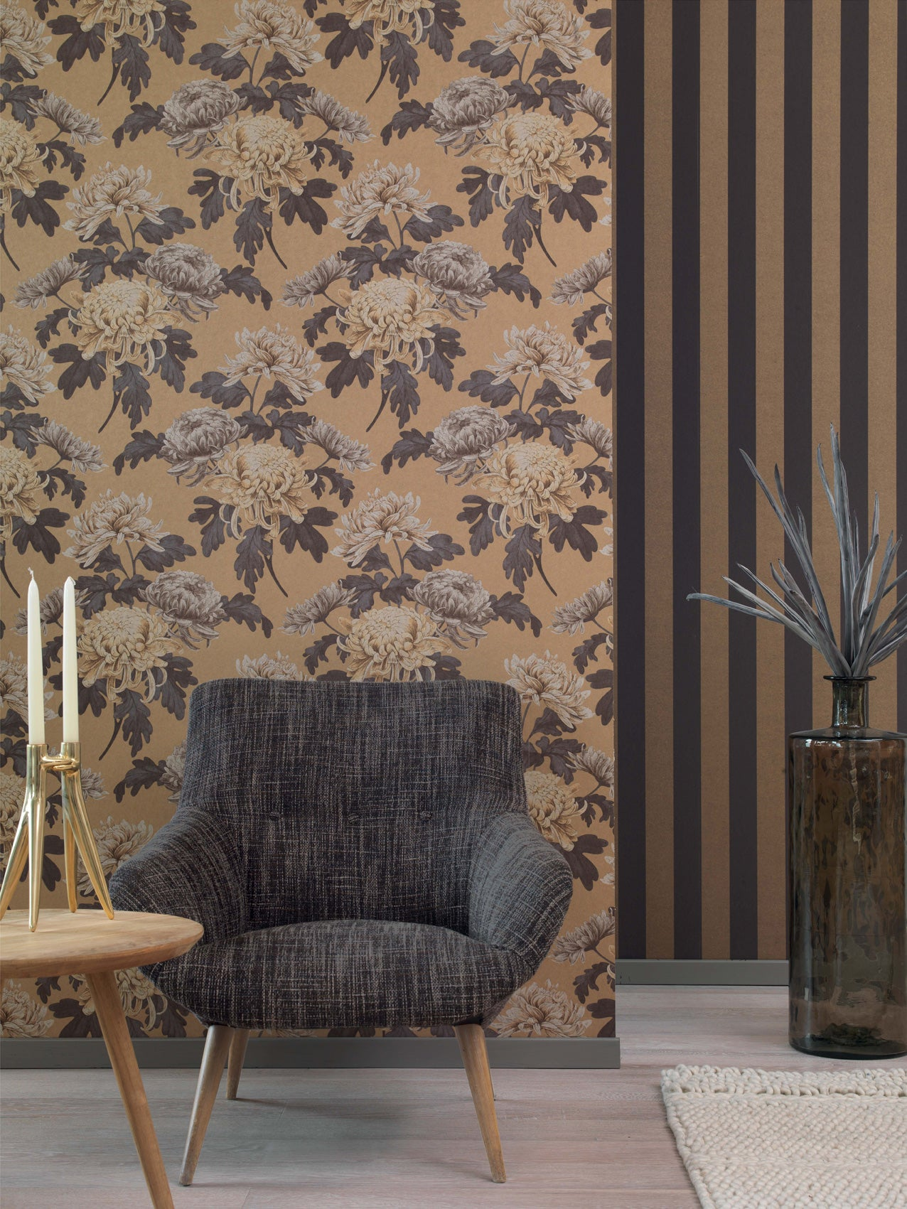 Modern Wallpaper Designs For Living Room: Contemporary Wallpaper Ideas For Living Room Feature Walls