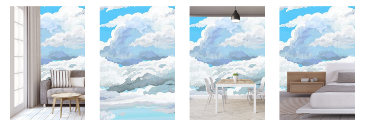 blue sky wallpaper mural