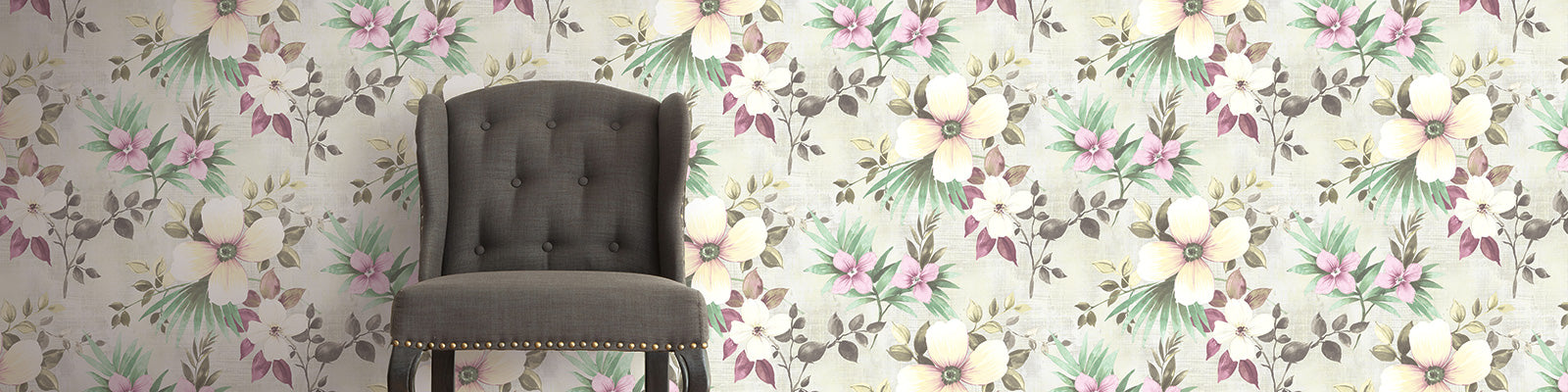 bold floral wallpaper
