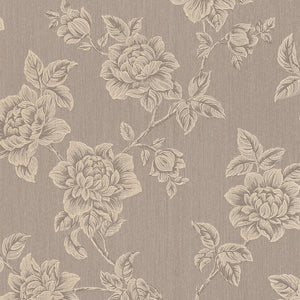 Brown Floral Victorian Wallpaper R3240 | Traditional Home WallCovering