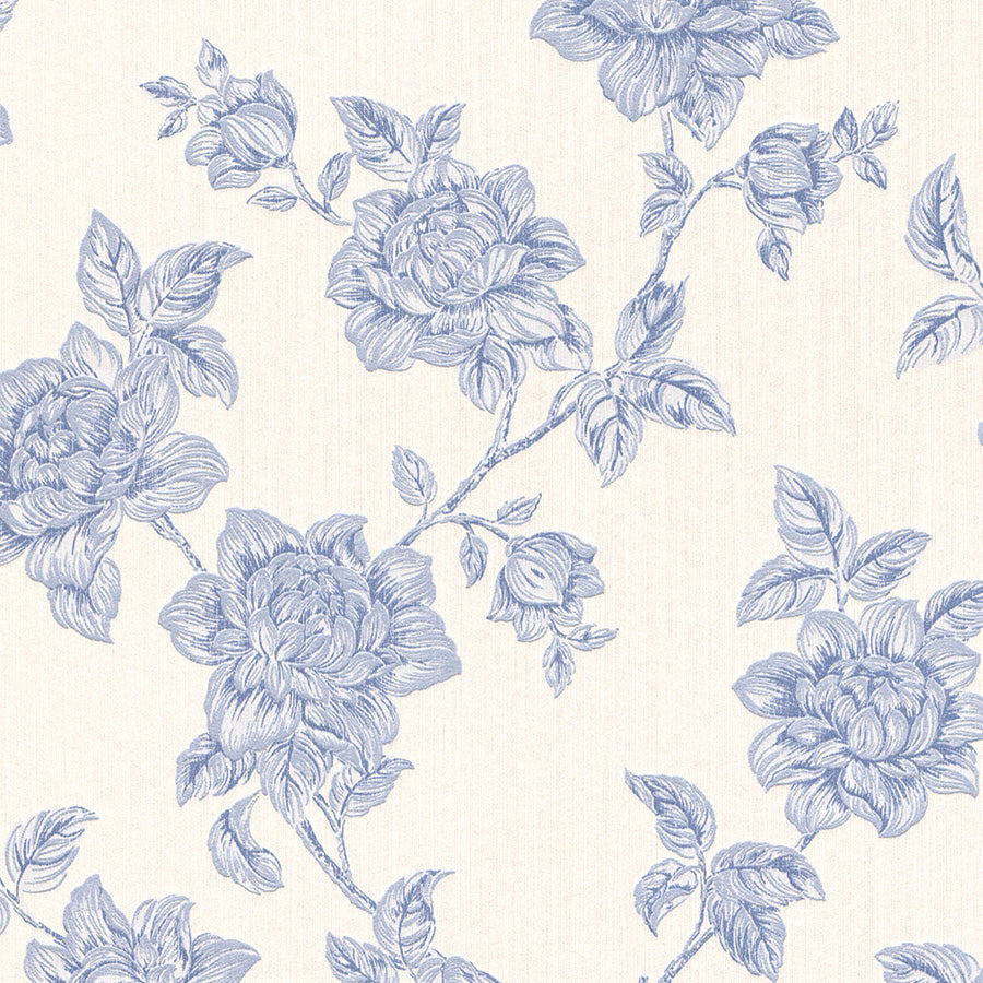 Beige Floral Victorian Wallpaper R3241 | Traditional Home WallCovering