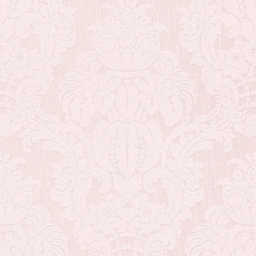 Pink Floral Damask Wallpaper R3219