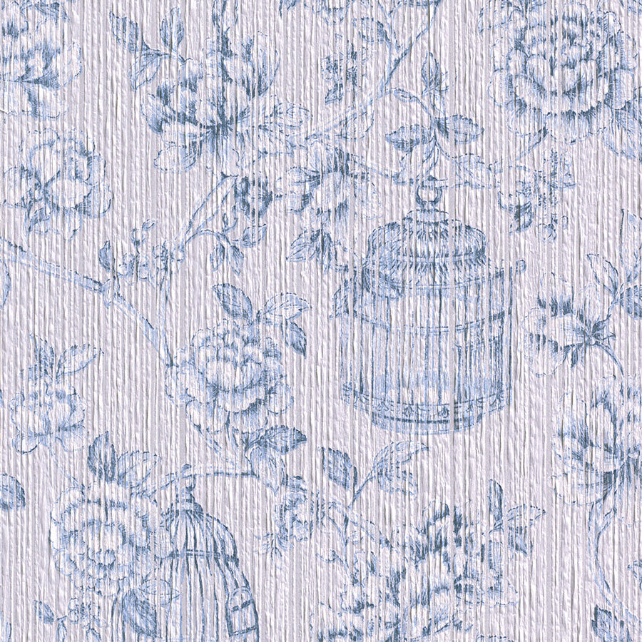 vintage floral wallpaper, Pale Blue Yarn Wallpaper R3244 | Vintage Bedroom Interior