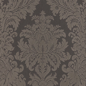 Traditional Grand Floral Damask Grey Wallpaper R4149 |. Damask Wallpaper