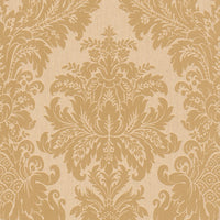 Beige and Yellow Floral Damask Wallpaper R4158. Damask Wallpaper. Yellow Wallpaper. Transitional wallpaper.