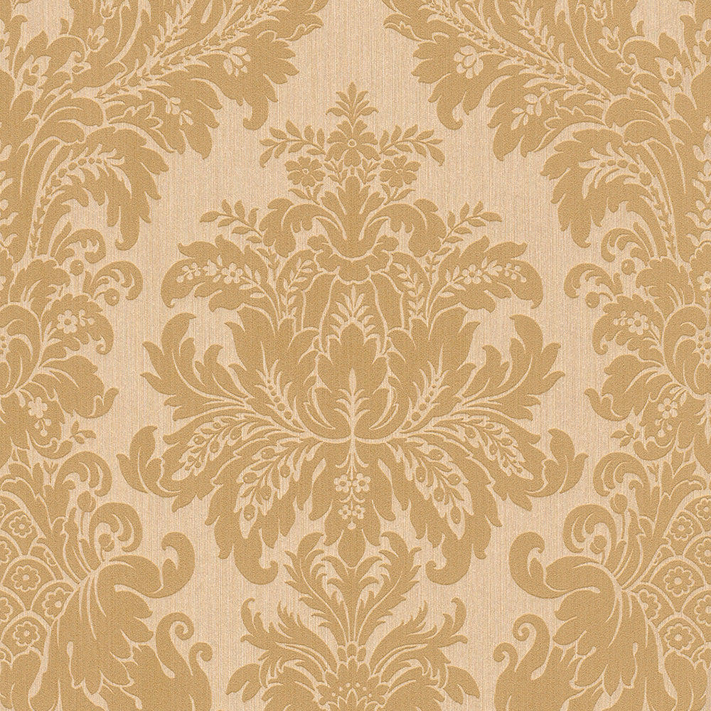 Beige And Yellow Floral Damask Wallpaper R4158 Damask Wallpaper
