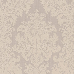Beige Floral Damask Wallpaper R4157 | Traditional Home Interior