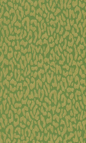Contemporary Faux Leopard Print Lime Green Wallpaper R4161
