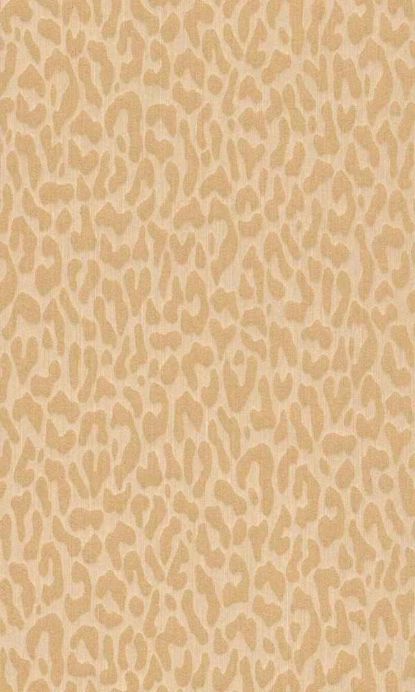 Contemporary Faux Leopard Print Beige and Yellow Wallpaper R4168