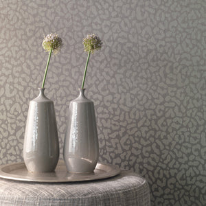 Contemporary Faux Leopard Print Taupe Wallpaper R4169