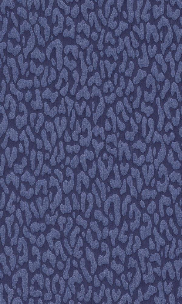 Contemporary Faux Leopard Print Deep Purple Wallpaper R4165