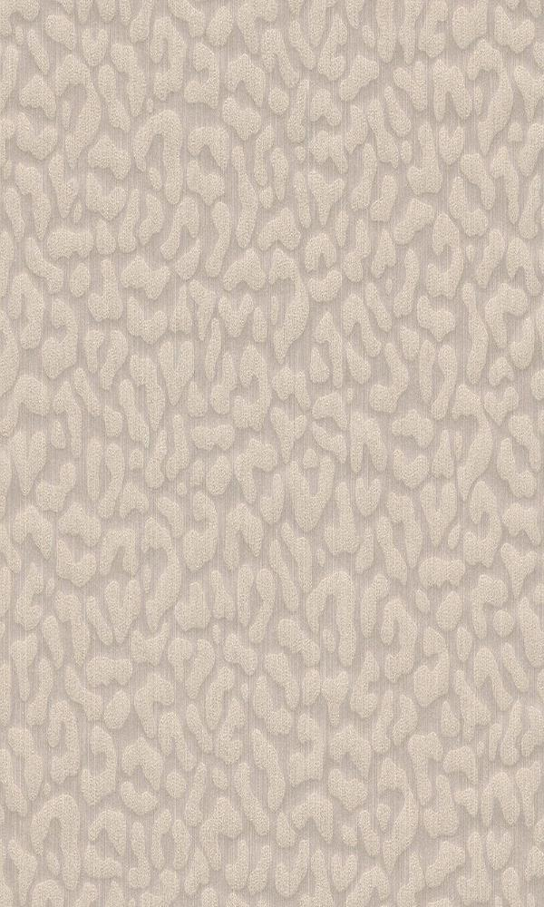 Contemporary Faux Leopard Print Beige Wallpaper R4167