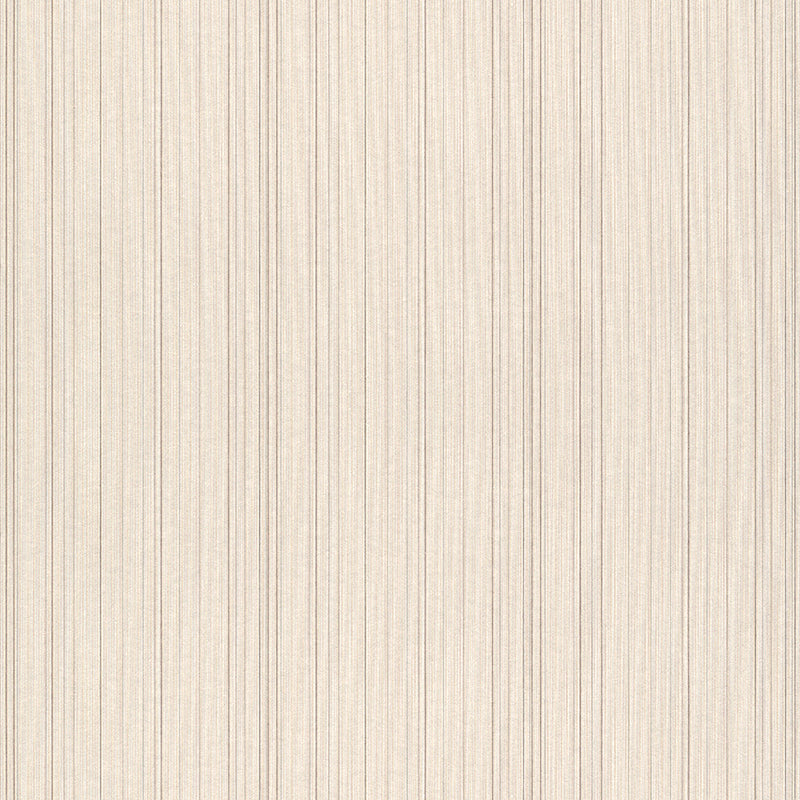 Vertical Thread Texture Lined Beige Wallpaper R4173