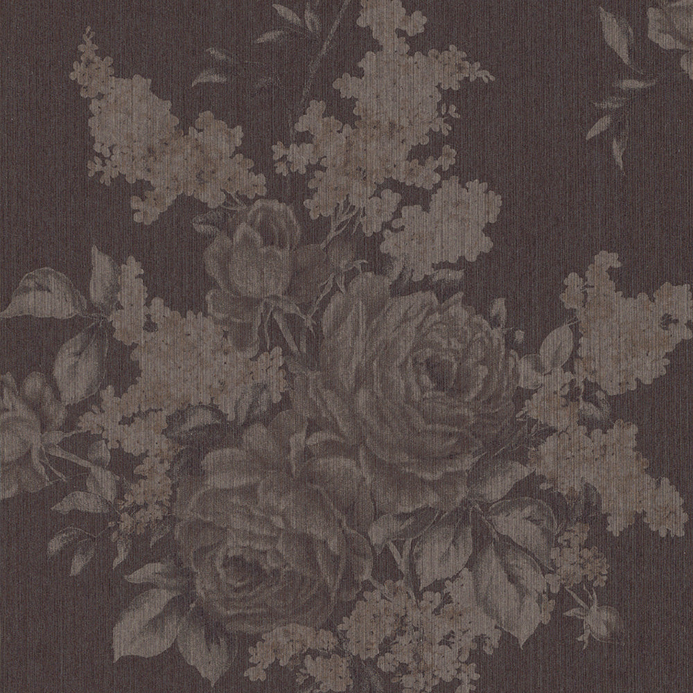 Floral Botanical Classic Brown Wallpaper R4133 Walls Republic Us