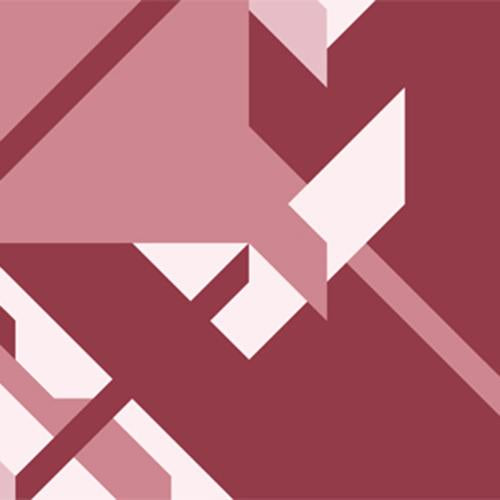 Dark Pink Angular Geometric Mural Wallpaper M9060