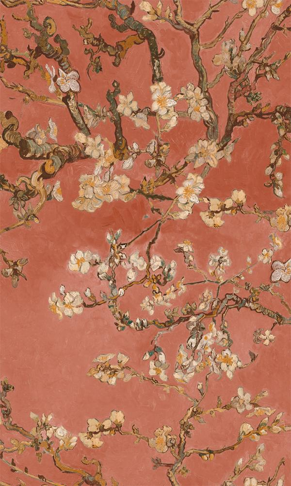 Rose Almond Blossom Floral Wallpaper R5003