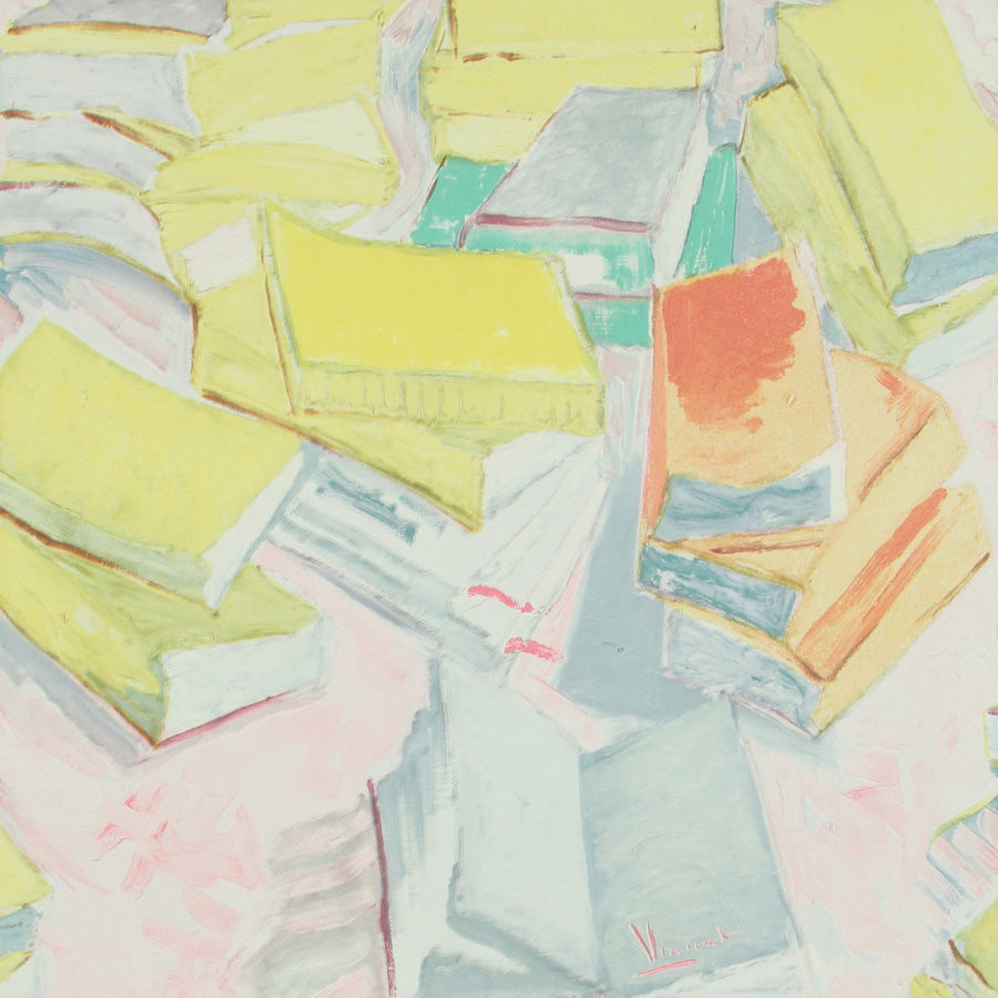 Yellow Piles of Books R2806