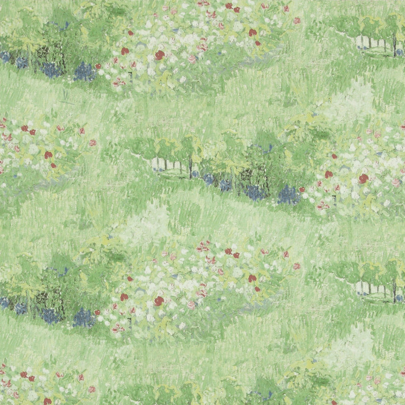 Green Garden Wallpaper R2813 | Traditional Floral Home Interior