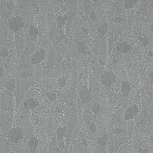 Grey Floral Silhouette Wallpaper R3288 | Traditional Home Interior