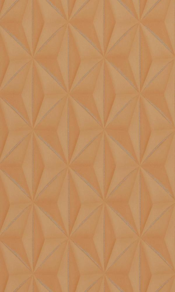 Copper Delusional Star-like Geometric Wallpaper R2923